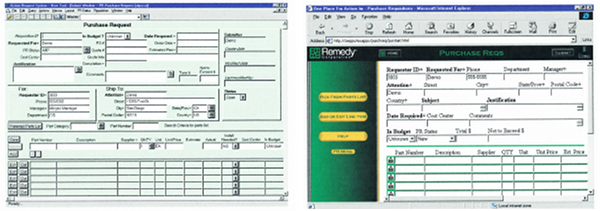 Original desktop purchasing form and first pass at porting to a web appliation.
